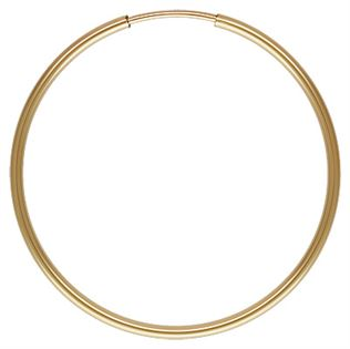 Gold Filled Endless Hoop Earrings - 1.25x30mm
