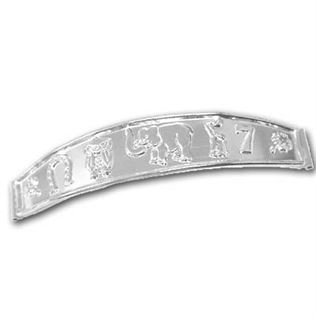 Sterling Silver Good Luck Plate (bracelet bar)