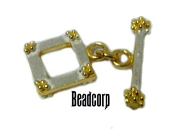 13mm Vermeil Square Toggle Clasp