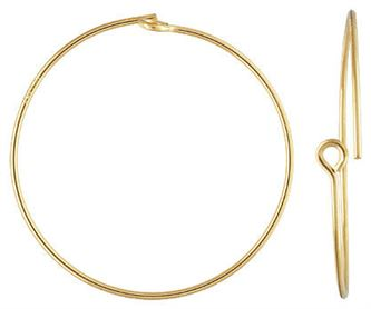 25mm Gold Filled Beading Hoops (1 pair)  14/20kt.