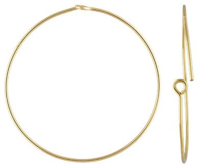 30mm Gold Filled Beading Hoops (1 pair)  14/20kt.