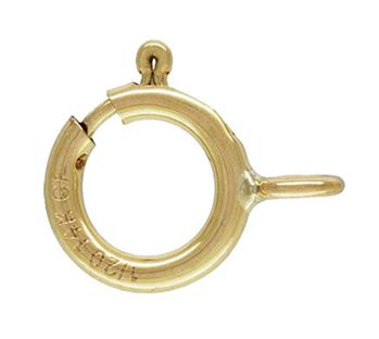 5mm Gold Filled Spring Ring Clasp w/ Closed Ring 14/20kt.
