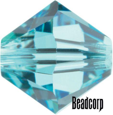 Swarovski 5301 / 5328 Bicone Beads - Aquamarine