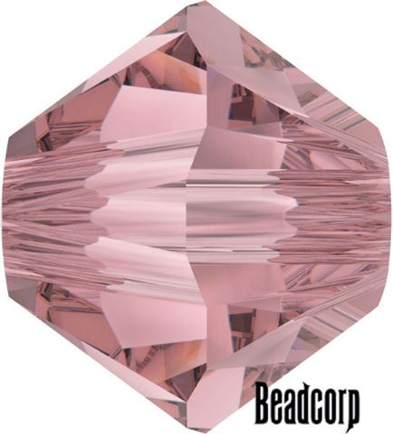 Swarovski 5301 / 5328 Bicone Beads - Crystal Antique Pink