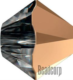 Swarovski 5301 / 5328 Bicone Beads - Crystal Rose Gold