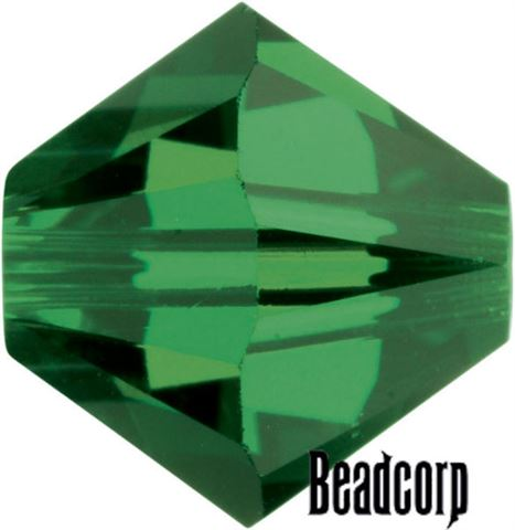 Swarovski 5301 / 5328 Bicone Beads - Fern Green