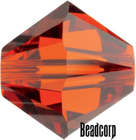 Swarovski 5301 / 5328 Bicone Beads - Indian Red