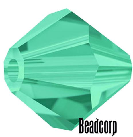 Swarovski 5301 / 5328 Bicone Beads - Emerald Light