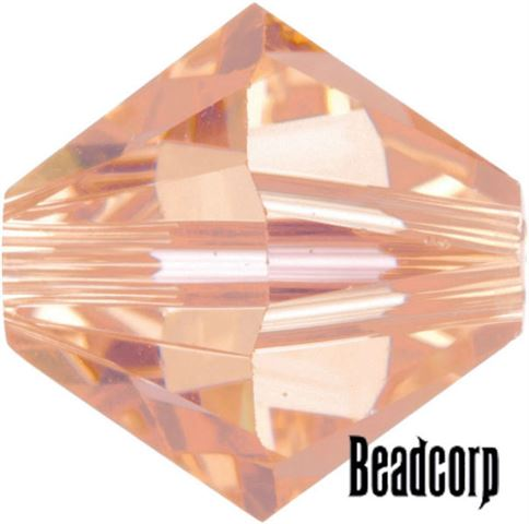 Swarovski 5301 / 5328 Bicone Beads - Peach Light