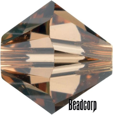 Swarovski 5301 / 5328 Bicone Beads - Smoked Topaz Light