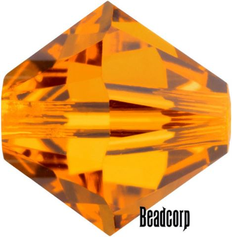 Swarovski 5301 / 5328 Bicone Beads - Topaz Red