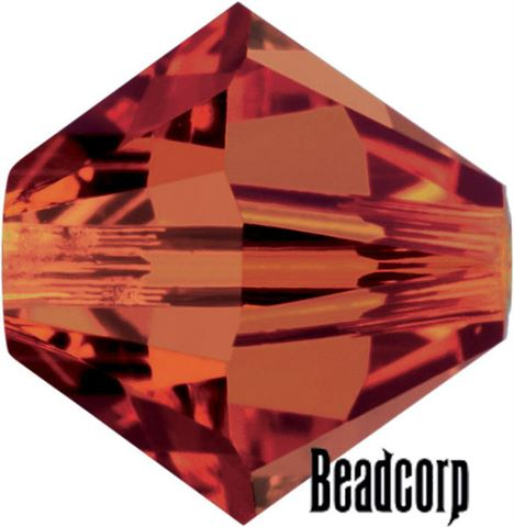 Swarovski 5301 / 5328 Bicone Beads - Crystal Red Magma