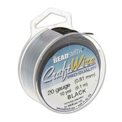CRAFT WIRE 20GA ROUND 10YD SPL BLACK