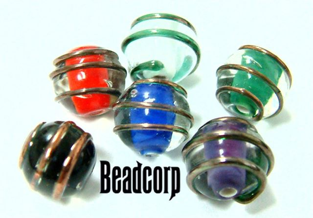 Czech 8mm 3D Swirl Beads sold each