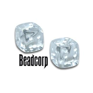 Clear Transparent Dice Beads