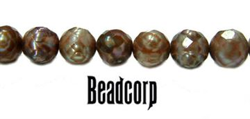 5.5-6mm Faceted Brown Fresh Water Pearls 15""