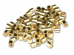 2x1.5mm Gold Filled Crimp Beads 100 pcs.