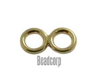 4.3x8.6mm Gold Filled Figure Eight Connector