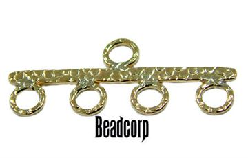25mm Gold Filled Hammered Reducer Bar / Connector Bar 4-1