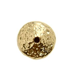 8.3mm Gold Filled Hammered Saucer Beads 14/20kt.