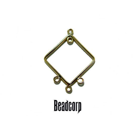 15.5mm Gold Filled Plain Square Component