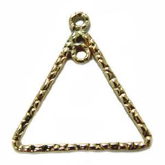 17mm Gold Filled Textured Triangle Component