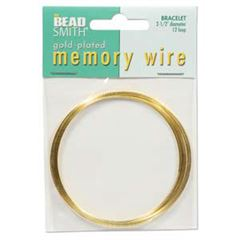 Gold Memory Wire Bracelet 12 turns