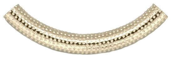 5x38 Gold Filled Curved Tube Dimple Pattern #lw3