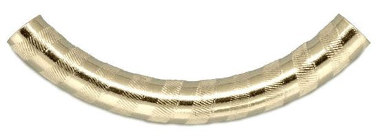 5x38 Gold Filled Curved Tube Banded Pattern #lw97