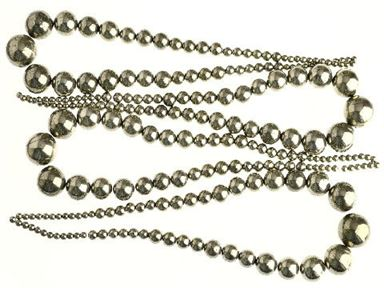 4-18mm Metallic Silver Pyrite Graduated Beads 16