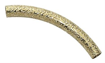 4X30 Gold Filled Curved Pattern Tube #N412