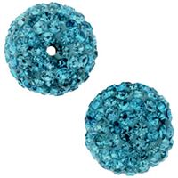 Pave Crystal Beads - Blue Zircon