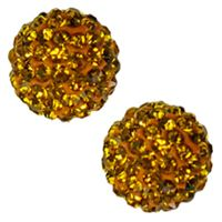Pave Crystal Beads - Topaz