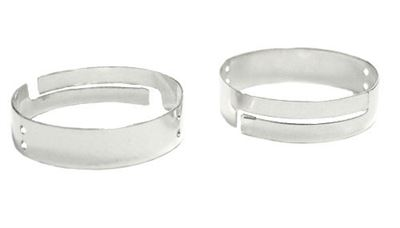 Sterling Silver 4mm Band Ring - Fully Adjustable