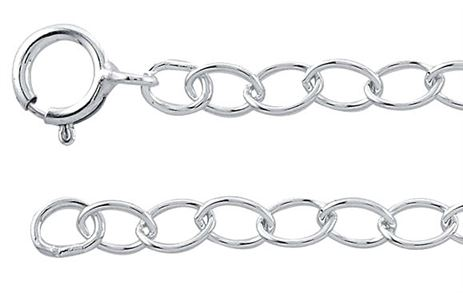 1.6mm Sterling Silver Cable Chain - 16 inches