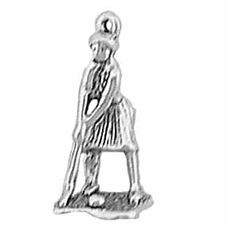 Sterling Silver Golf Girl Charm