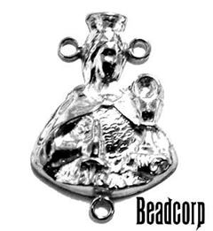 Sterling Silver Rosary Center Charm