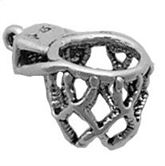 Sterling Silver Basketball Net Charm
