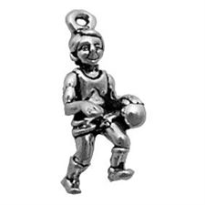 Sterling Silver Basketball Player Charm