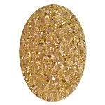 18x25mm Spanish Rose Oval Druzy Cabochon