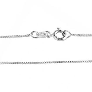 .65mm Sterling Silver Box Chain Necklace - 16 inches