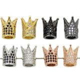 King Crown Micro Pave Beads