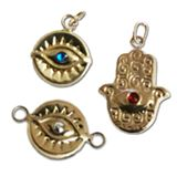 Gold Filled Evil Eye Components