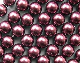 "12mm Plum Glass Pearls 16"" Strand   *** Clearance ***"