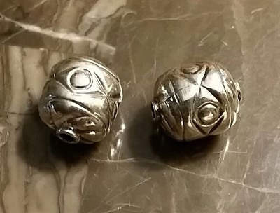 16x13mm Sterling Silver Casted Ornate Beads  *** Clearance ***