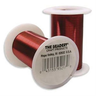 Clearance - The Beadery  Red Craft Wire 28 Gauge - 40 yards
