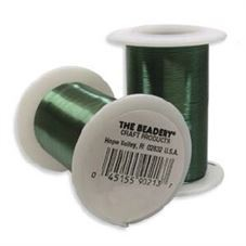 Clearance - The Beadery Green Craft Wire 28 Gauge - 35 yards