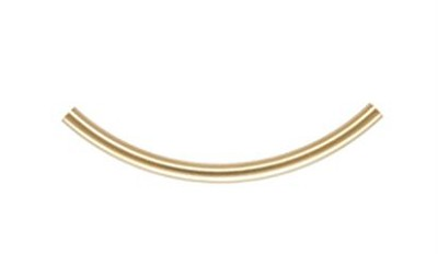 3x50mm Gold Filled Curved Tubes 14/20kt.