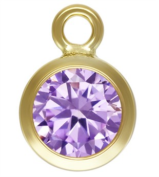 7.5mm Gold Filled Bezel Drop 3A CZ - Alexandrite