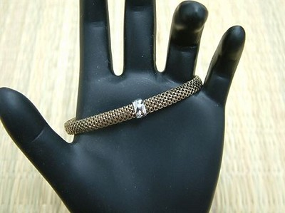 Child's Chocolate Gold Plated Italian Stretch Mesh Bracelet 6.5 inches